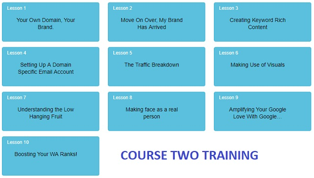 Second 10 lessons at Wealthy Affiliate, which is a paid premium level