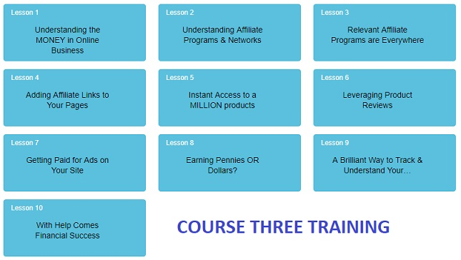 Third 10 lessons at Wealthy Affiliate, which is a paid premium level